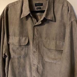 Van Hausen  Soft Suede shirt tan size XXL